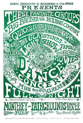 The Gladstones Light Show Dance Concert - 1966 - Concert Poster