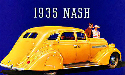 1935 Nash Ambassador Eight Victoria - Promotional Advertising Poster