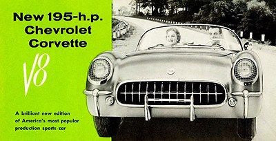1955 Chevrolet Corvette - Promotional Advertising Poster