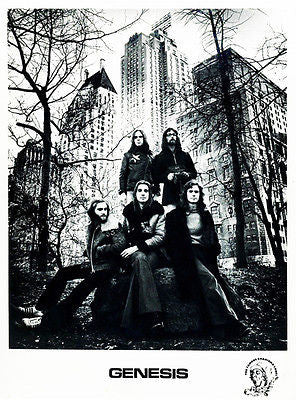 Genesis - 1972 - Band Promotional Poster - Phil Collins - Mike Rutherford