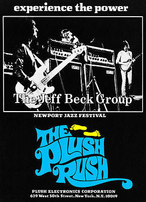 Jeff Beck Group - The Plush Rush - Newport Jazz Festival - 1970 - Concert Poster