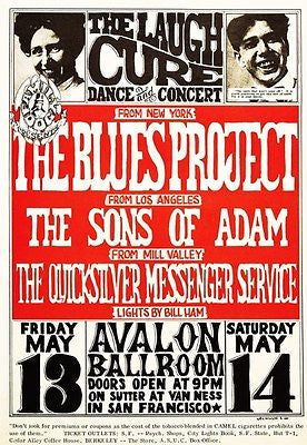 The Blues Project - The Sons of Adam - 1966 - Avalon Ballroom - Concert Poster