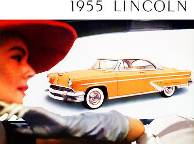 1955 Lincoln - Promotional Advertising Poster