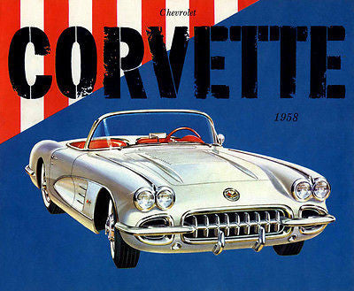 1958 Chevrolet Corvette - Promotional Advertising Poster
