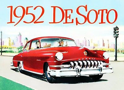 1952 DeSoto Custom - Promotional Advertising Poster