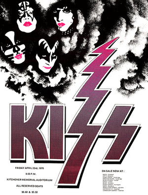 KISS - Kitchener Ontario - 1976 - Concert Poster