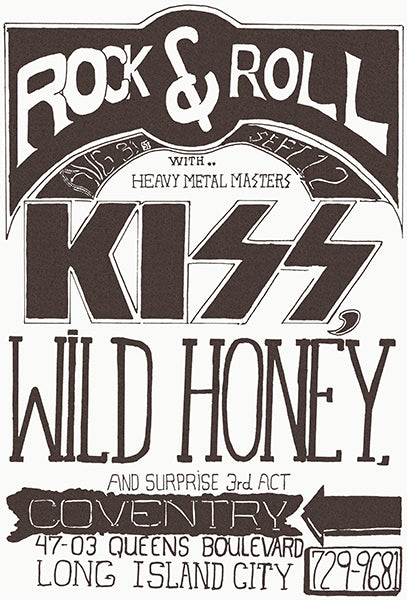 KISS - Wild Honey - 1973 - Long Island City NY - Concert Magnet