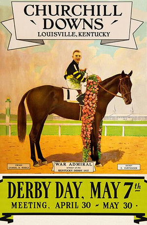 Kentucky Derby - Churchill Downs - 1938 - Horse Race Magnet