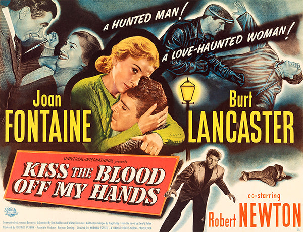Kiss The Blood Off My Hands - 1948 - Movie Poster