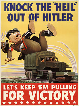 Knock The Heil Out Of Hitler - Keep 'Em - 1940 - World War II - Propaganda Poster