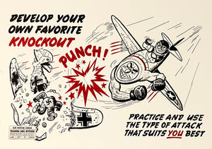 Knockout Punch - 1944 - Training Aids Aviation Poster