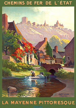 La Mayenne Pittoresque - France - 1930's - Travel Poster Magnet