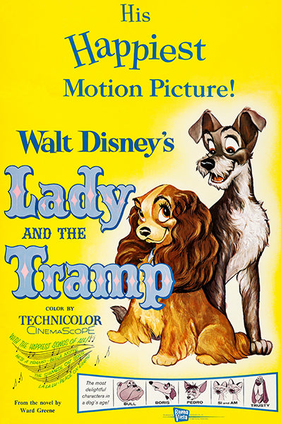 Lady And The Tramp - 1962 - Movie Poster