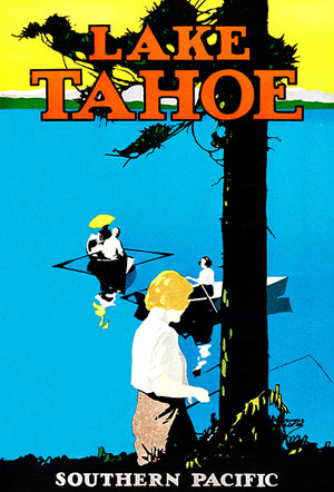 Lake Tahoe - Southern Pacific - 1922 - Travel Poster Magnet