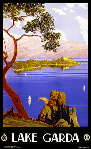 Lake Garda - Italy - 1924 - Travel Poster