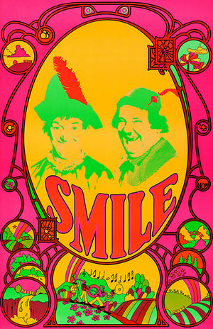 Laurel & Hardy - The Beatles - Smile - 1969 - POP Art Poster