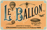 Le Ballon - French Aeronautical Journal - 1883 - Advertising Poster