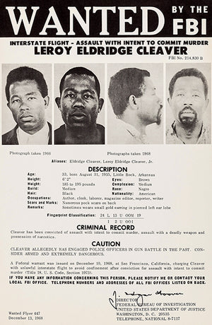 Leroy Eldridge Cleaver - 1968 - FBI Wanted Poster