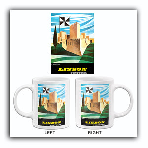 Lisbon Portugal - 1964 - Travel Poster Mug