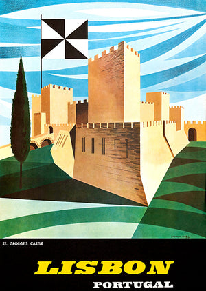 Lisbon Portugal - 1964 - Travel Poster Magnet