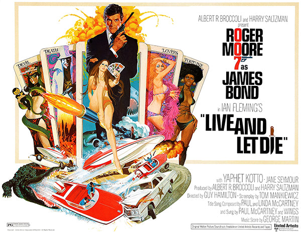 Live And Let Die - James Bond - 1973 - Movie Poster