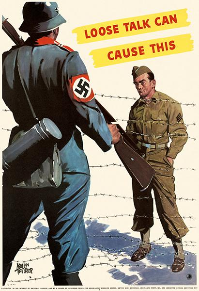 Loose Talk Can Cause This - 1942 - World War II - Propaganda Poster Magnet