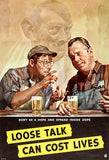Loose Talk Can Cost Lives - Don't Be A Dope - 1942 - World War II - Propaganda Poster Magnet