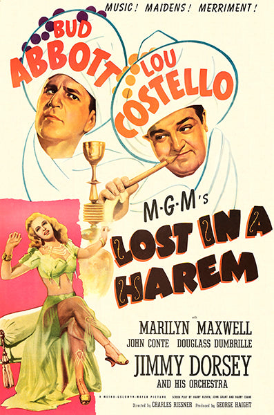 Lost In A Harem - 1944 - Movie Poster