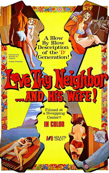 Love Thy Neighbor And His Wife! - 1970 - Movie Poster Magnet