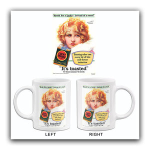 Lucky Instead Of Sweet - Lucky Strike Cigarettes - Myrna Darby - 1929 - Advertising Mug
