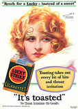 Lucky Instead Of Sweet - Lucky Strike Cigarettes - Myrna Darby - 1929 - Advertising Poster