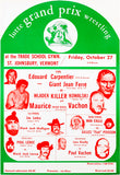 Lutte Grand Prix Wrestling - 1972 - Vermont - Show Poster