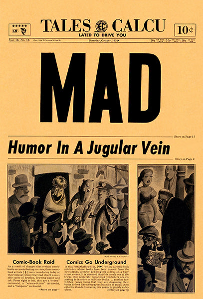 MAD Magazine #16 - October 1954 - Cover Poster