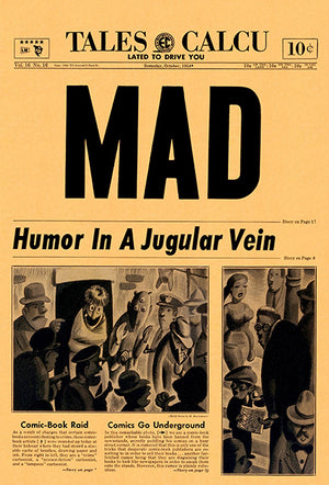 MAD Magazine #16 - October 1954 - Cover Mug