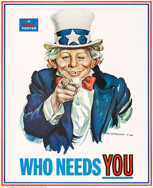 MAD Magazine #126 - Who Needs You - 1969 - Cover Mug