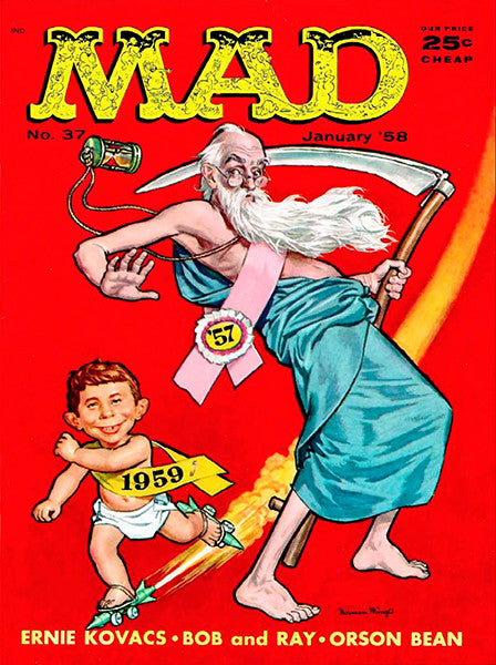 MAD Magazine #37 - January 1958 - Cover Poster