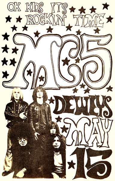 MC 5 - Madison WI - 1971 - Concert Poster