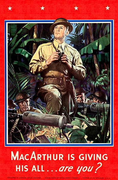MacArthur is Giving His All - Are You - 1942 - World War II - Propaganda Poster Magnet