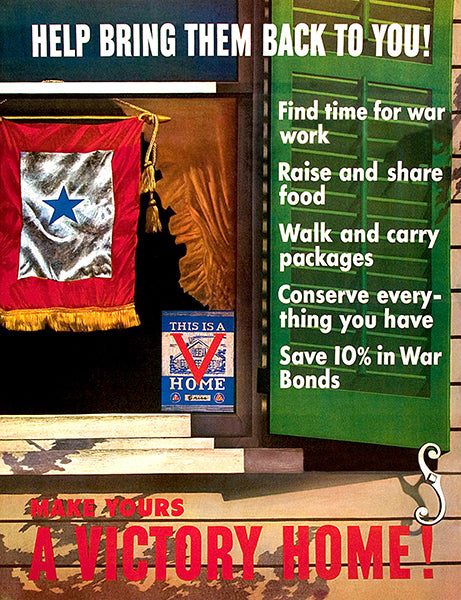 Make Yours A Victory Home - 1943 - World War II - Propaganda Poster