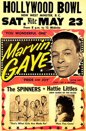 Marvin Gaye - The Spinners - 1964 - Concert Magnet