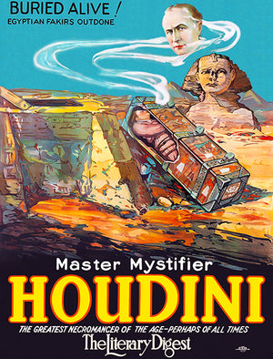 Master Mystifier Houdini - Buried Alive - 1923 - Show Poster