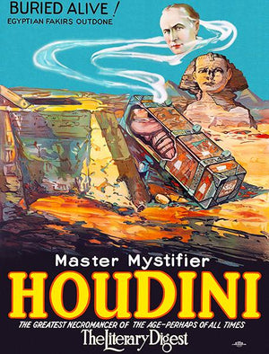 Master Mystifier Houdini - Buried Alive - 1923 - Show Poster Magnet