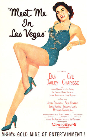 Meet Me In Las Vegas - 1956 - Movie Poster Magnet