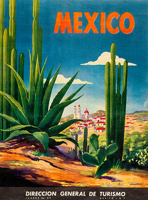 Mexico - 1950 - Travel Poster Magnet