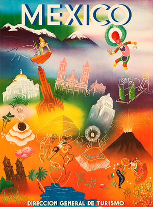 Mexico #2 - 1960's - Travel Poster Magnet