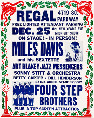 Miles Davis - 1959 - Regal Theater - Chicago - Concert Poster