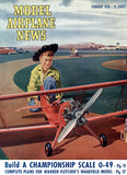 Model Airplane News - February 1950 - Magazine Cover Poster