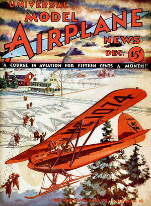 Model Airplane News - Heath Parasol - December 1932 - Magazine Cover Poster