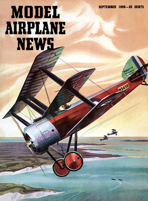 Model Airplane News - Sopwith Triplane - September 1956 - Magazine Cover Poster