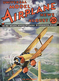 Model Airplane News - The Beechcraft - August 1934 - Magazine Cover Poster